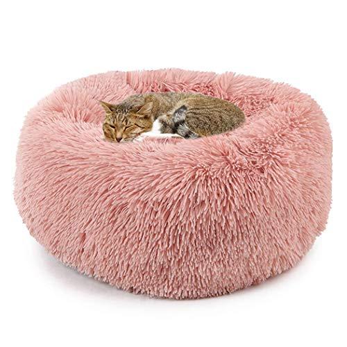 Haustier Bett Plüsch Weich Runden Katze Schlafen Bett Klein Hund Bett,Pet Bed Für Katzen Und Kleine Mittelgroße Hunde Cuddler Hundebett,Katzenbett Donut Bett -