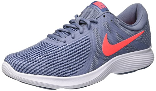 Nike Revolution 4 EU, Scarpe da Ginnastica Basse Uomo, Multicolore (Ashen Slate/Flash Crimson/Diffused Blue 464), 44.5