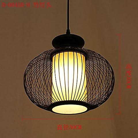 Cinese di arti in legno piccolo Giapponese di stile rattan Brief creativo lampade a Sospensione,Q 30cm*30cm