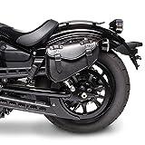 Motorrad Satteltasche für Custom Bikes Arizona schwarz links