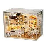 Wosume Kit casa delle Bambole, Diario della Torta Casa delle Bambole in Miniatura Casa delle Bambole in Miniatura 3D in Legno Fatta a Mano per Bambini Regalo di Compleanno