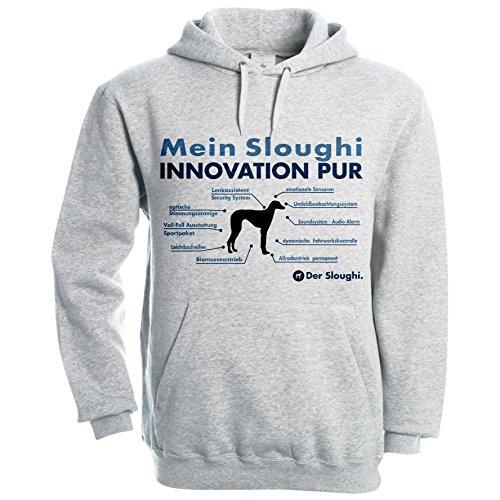 INNOVATION Liste SLOUGHI Berber Windhund Hund Hunde - Unisex Hoodie Kapuzensweatshirt Pullover Fun Siviwonder heather grey XL Berber-pullover