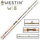 Westin W8 Powercast-T 255cm XXH 40-130g Spinnrute für Multirolle, Angelrute zum Spinnfischen mit Baitcaster Rolle, Ruten für Hecht, Zander & Waller, 2-teilige Steckrute, Angel mit Triggergriff