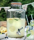 Large Kilner Clip Top Storage Drinks Preserving Wine Beverage Dispensers Jars With Tap 8 Litre