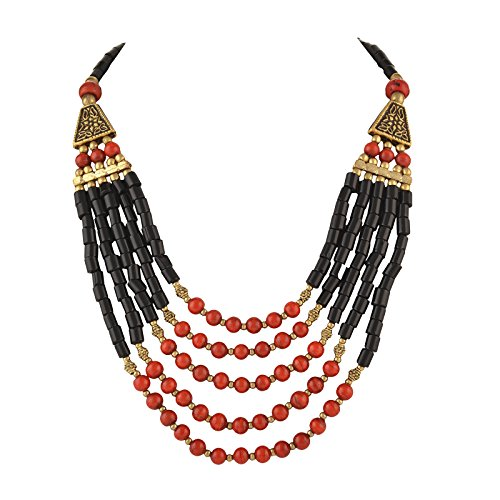 Zephyrr Tibetan Handmade Beaded Multi Strand Necklace Jewellery for Women