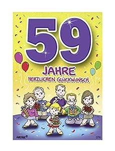 Depesche 5598.076Tarjeta de felicitación con diseño de Archie, 59. Cumpleaños