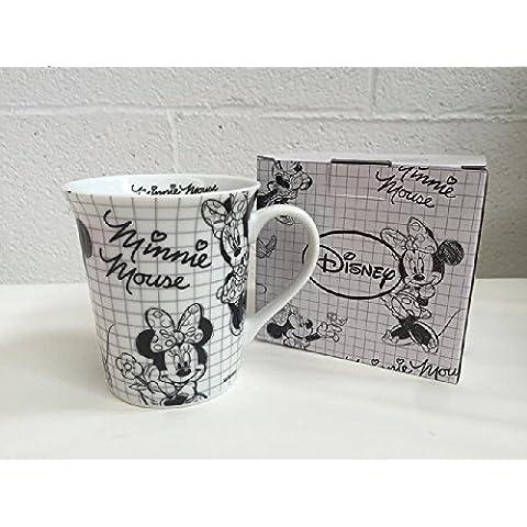 Disney Topolina Minnie Tazza mug porcellana Sketch Fumetto in scatola regalo