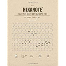 HEXANOTE - Hexagonal Graph Cornell Notebook - Organic Chemistry: 110 pages large hexagonal graph paper notebook for drawing organic chemistry ... style with top and side margins for notes.