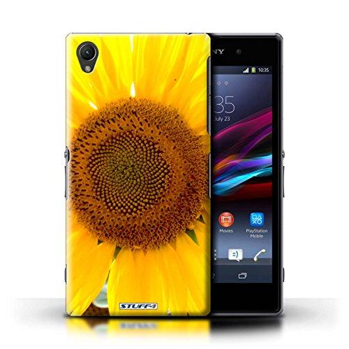 Kobalt® Imprimé Etui / Coque pour Sony Xperia Z1 / Clair Rose conception / Série floral Fleurs Tournesol