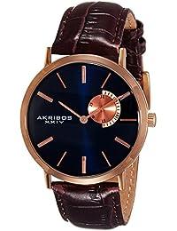 Akribos XXIV Analog Blue Dial Men's Watch-AK848RGBU