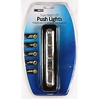 super luminoso 5 led luce di push a batteria nessun cablaggio necessario