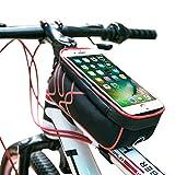 YOOFAN Fahrrad-Rahmentasche, Handyhalterung mit wasserdichter Abdeckung, Touchscreen-Tasche, Handytasche für iPhone und Samsung - Passend für die meisten Fahrräder