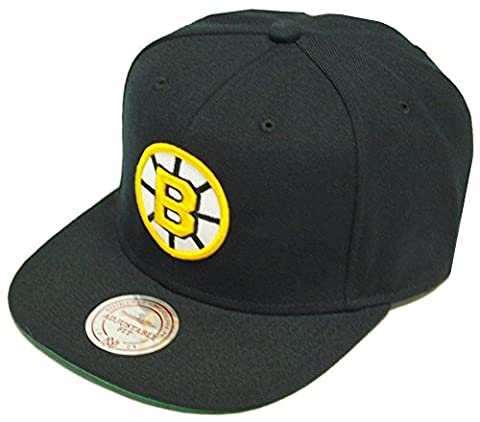 Mitchell & Ness Boston Bruins Wool Solid Snapback Cap NZ980
