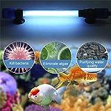 leoboone UV-keimtötende für Aquarium-UV-Sterilisator-Lampe Unterwassertauchgebrauch Strahlenbeständiger Fisch-Riff-Korallen-Behälter EU-Stecker, blau
