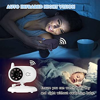 [2018 Upgraded]newest Video Baby Monitor - Etekstorm Monitor With 3.5''lcd Display,digital Camera,two Way Talk,night Vision,lullabies,temperature Monitoring,capacity Battery & Long Range. 5