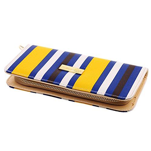 Phenovo Donna Moda Pochette Fermasoldi Portafogli Borsa In Pelle Con Slot Per Carta Titolare - Rosso Blu