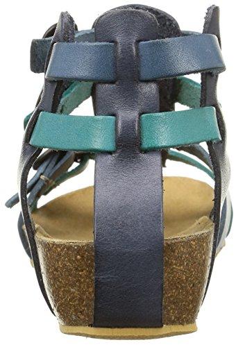 Kickers Bomdia, Sandales Compensées Fille Bleu (Bleu Turquoise)