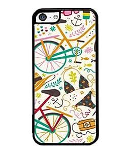 Snapdilla Designer Back Case Cover for Apple iPhone 5c (Wallpaper Illustration Backcover Decoration Cap Sandals Spectacles)