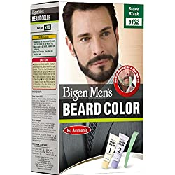 Bigen Men's Beard Color, Brownish Black B102(20g+20g)