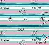Finn liebt Annie Jersey Kinderstoff Lovely Stripes 0,5m x
