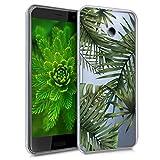 kwmobile Coque HTC U11 - Coque pour HTC U11 - Housse de téléphone en Silicone Vert Transparent