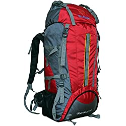 Gleam 2209 Mountain Rucksack / Hiking / trekking bag / Backpack 75 Ltrs Red & Grey with Rain Cover