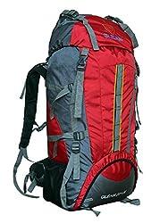 Gleam 2209 Mountain Rucksack / Hiking / trekking bag / Backpack 75 Ltrs Red & Grey with Rain Cover
