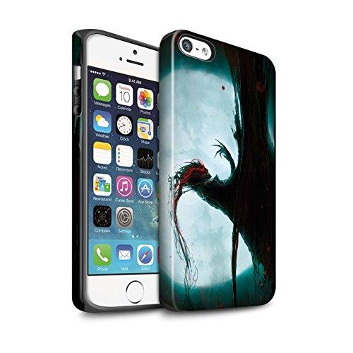 Offiziell Chris Cold Hülle / Matte Harten Stoßfest Case für Apple iPhone SE / Kriegsheld/Warlock Muster / Dämonisches Tier Kollektion Dramargu/Vollmond