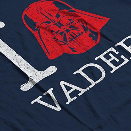 Star Wars Rogue One I Heart Darth Vader White Women's Sweatshirt Navy blue