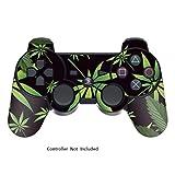 Sony PS3 Controller Sticker - Aufkleber Schutzfolie Skin für Playstation DualShock 3 Wireless Controller - Weeds Black