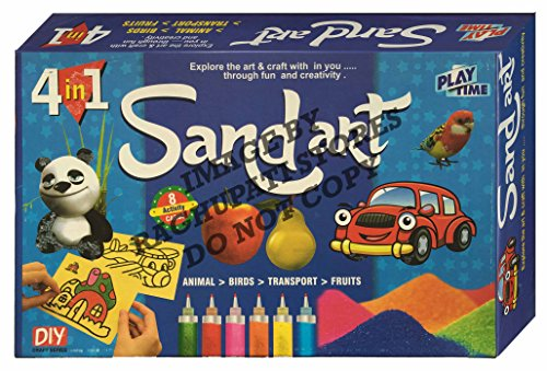 Sand Art Game for kids, Craft kits, Do it yourself, Making designs with Sand, DIY Activity game