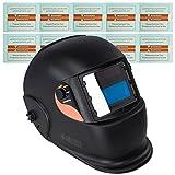 awm® WH01B Automatik Schweißhelm + 10x Ersatzgläser Schweißschirm Schweißmaske Solar Schweißbrille