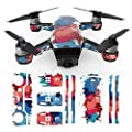 For DJI Spark Mini Drone Stickers, Bescita Dji Drone Waterproof Decal Skins Wrap Sticker Body Protector