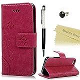Mavis's Diary iPhone 5 5s/SE Hüllen Rose Retro Design PU