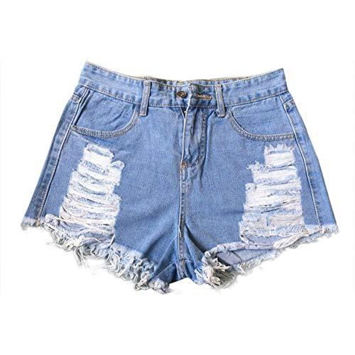 15db6fbba2aaa DAIDAICDK Las Mujeres del Verano Pantalones Cortos De Mezclilla De Cintura  Alta Ripped Jeans Cortos Femme