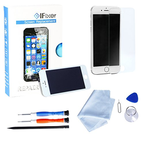 iFixer Display iPhone 6 LCD Schermo Da Sostituire Screen Replacement KIT 4.7 Pollici Con Vetro Bianco