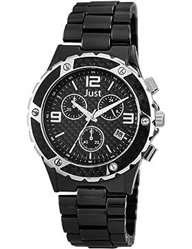 Just Watches Herren-Armbanduhr XL Chronograph Quarz Keramik 48-S0006-BK