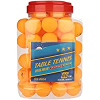 Alomejor Table Tennis 60 Pcs 3-Star 40mm Ping Pong Balls for Competition Training Entertainment