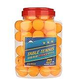 Alomejor 60 Pcs Balle de Ping Pong 40mm Balles de Tennis de Table Idéal pour Le Tennis de Table et Ping Pong Tournois l'entrainement et Les Jeux(Jaune)