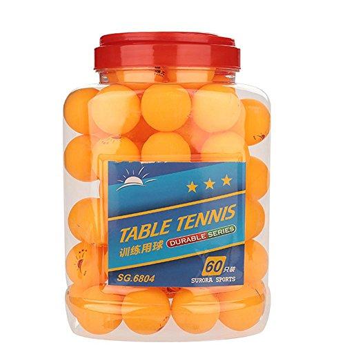 Alomejor 60 Stücke Tischtennisball 40mm 3-Sterne-Ping-Pong-Bälle Sporttraining Ball für Unterhaltung Tischtennis Training Erwachsene Kinder Spiele(Orange)