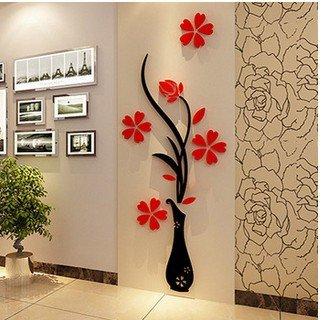 Forma vaso acrilico murali adesivi da parete della decalcomania diy wall sticker tv parete smontabile per living room decor wall art , 6 , 71
