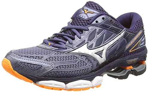 Mizuno Wave Creation 19, Scarpe da Ginnastica Basse Uomo, Multicolore (Fgray/Silver/Eclipse 001), 42 EU