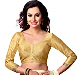 #6: STUDIO SHRINGAAR LATEST POLY RAW SILK STITCHED SAREE BLOUSE WITH 3/4 TH SLEEVES