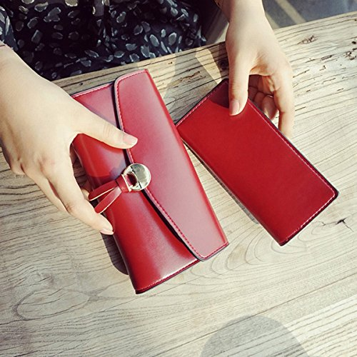 Geld damen handtasche mode tasche Geld Geldbörse einfache wölbung lange brieftasche Rot