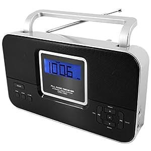 soundmaster tr65 pll radio mit festsenderspeicher uhr mit. Black Bedroom Furniture Sets. Home Design Ideas