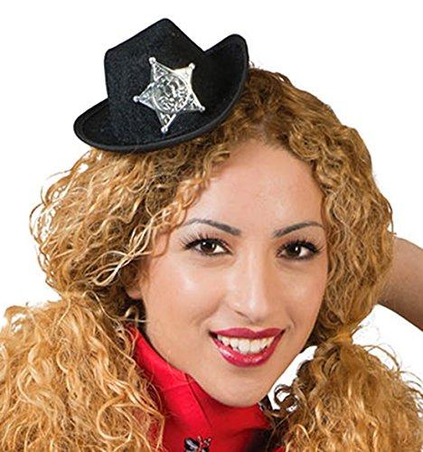 Zauberclown - Cowboyhut Tiara mit Sheriffstern - Kinderkostüm Erwachsene Cowboykostüm, (Reiter Helm Kostüm)