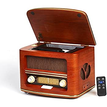 vintage radio retro radio cd spieler cd mp3 fm lw usb anschluss und fernbedienung radio. Black Bedroom Furniture Sets. Home Design Ideas