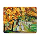 Yanteng Mouse pad da gioco, Mouse Pad Country Road con Maple Mousepad per computer e laptop Tappetino per mouse antiscivolo