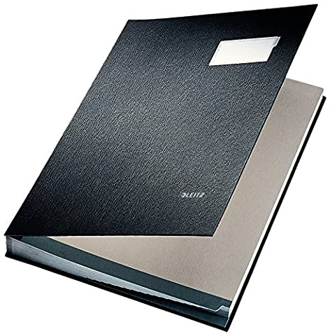 Leitz 5700-00-95 Durable Blotting Card Signature Book with 20 Compartments