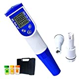 6-in-1 Wassertester für pH, Leitwert, Salzgehalt, Redox, Temperatur